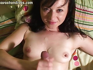 3 cumshots on Maya bare tits