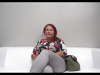 Redhead GILF interviewed and fucked Fast Motion