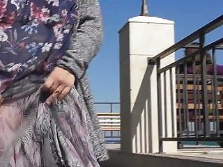 Hairy mature in transparent skirt (part 3)