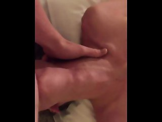 Teen throat fuck with amazing throat bulge
