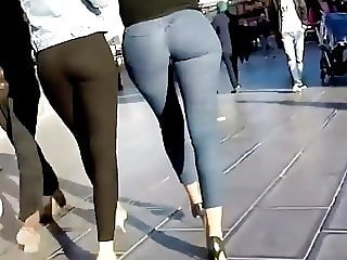 Candid Hot Ass in Jeans and Heels