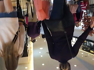 Turkish Teen Mini Jeans Skirt High Boot - Part 1 Candid