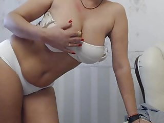 beautiful mommy in white panties
