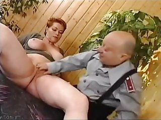 German MILF Kira Red Rough Fucked by Midget