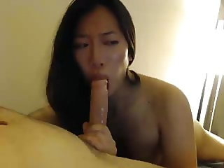 Asian Girl Friend Servicing Me