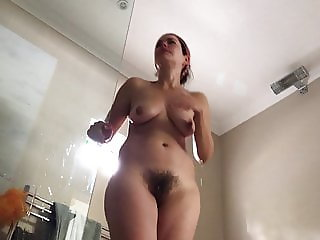 Wife morning shower