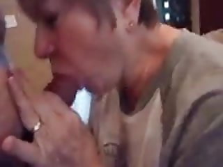 62 yo cum slut may gets mouthful of cum