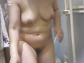 my wife in bathroom 20190109