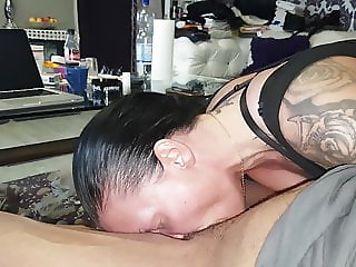 Cum on face deepthroat