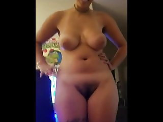 AMAZING BIG TITS curly girl SUCKS COCK and BALLS HUGE FACIAL