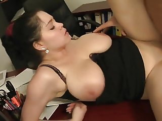 Amazing Chubby Girl with BIG TITTIES Pleases Older Dude.