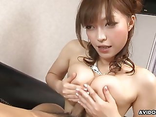 Japanese slut, Yui Ayana got fucked on the sofa, uncensored
