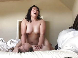 Chubby Asian Wife Fucking Sucking Squirting TITS ASS