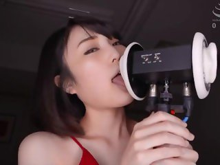 ASMR 5 Japanese women lick your ears