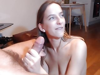 Horny GF Loves to Suck Big Hard Cock