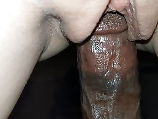 Hot wife riding hot black cock