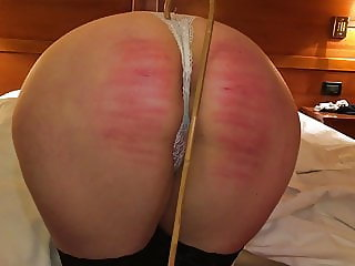 Wife caning in hotel