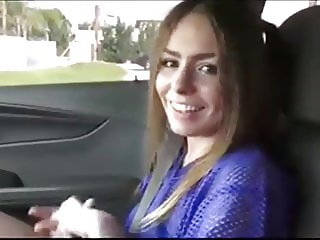 Gorgeous College Girl Let Stranger Fuck Her Wet Pussy in Car