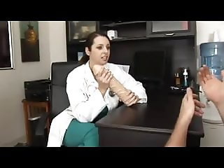 Doctor does whatever her desperate patient needs.
