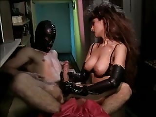 Latex gloves and fisting cum