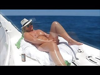 Hot mature Suzy on her boat