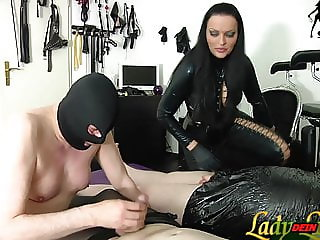 German slave must learn blowjob for femdom Domiina bdsm