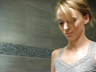 Stepmom Helps Her Not Stepson With Shower Voyeur