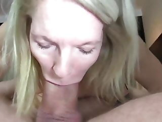 Nerd with Thick Cock Cums In Mouth of his Mature Neighbor