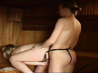 girl fucks mature women with strap-on