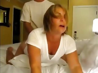 Desperate Amateur Wife Pleasing Her Co-Worker In Hotel Room