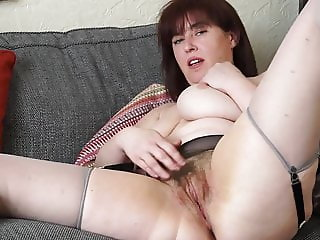Busty mature mom with hairy hungry vagina