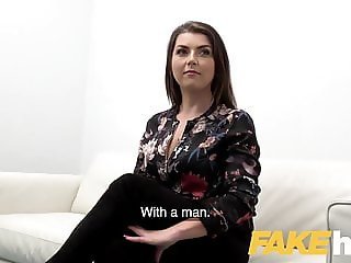 Fake Agent Hot slow sex with hot tight shaven pussy