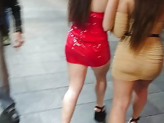 Hot Teen Sluts - Tight Leather Dress & Juicy Ass, Sexy Legs