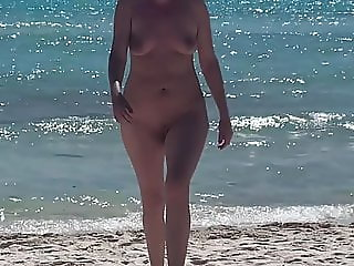 Wife naked on the beach again.