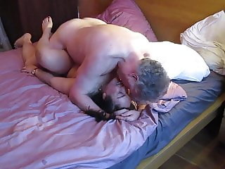 Thai Mature whore passionate fuck with British Bull