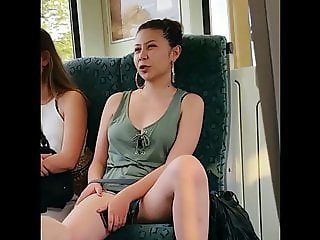 Upshort young german girl shows shaved pussy lips