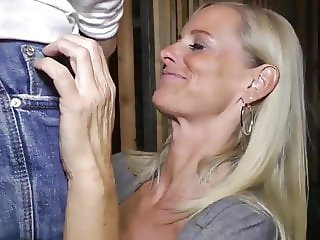fantastic mature milf likes her new roommate boy