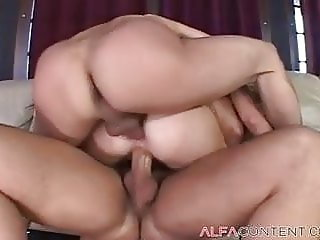 Young Babe Fucks Two Guys
