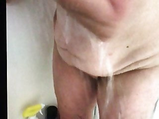 Voyeur Rose in shower bbw mature wife