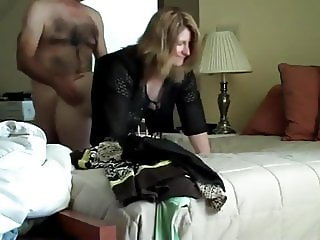 shameless wife having fun with her boss on business trip
