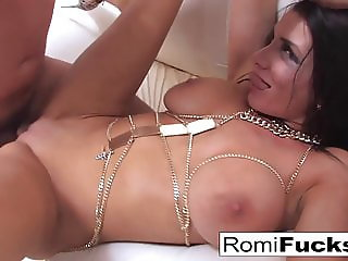 Gonzo sex with porn starlet Romi Rain and Euro star Toni