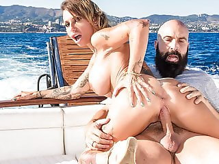MAMACITAZ - Busty MILF Gina Snake Having Fun On A Boat