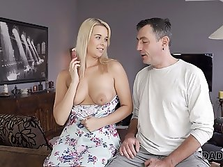 DADDY4K. Beautiful Dream Nikki gives BF's dad her pussy