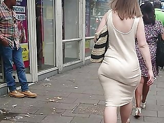 Big Phat Ass, Wide Hips & Jiggly Booty In Tight Sundress VPL