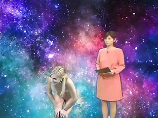 Nude model&announcer   in space