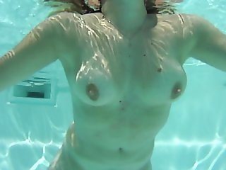 handjob in the swimming pool