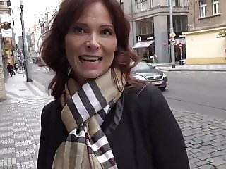 American Divorced Busty MILF with Stranger In Prague