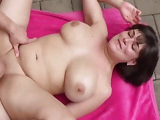 Horny Busty Wife Gets Filled Up with Cum By Her Neighbor