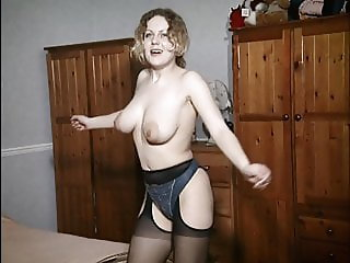 I DANCE YOU WANK 28 - British big tits strip, chat & lotion