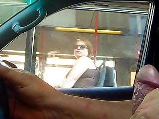 Flashing dick a girl in bus (reloaded)